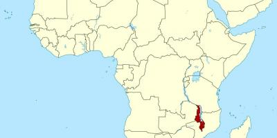 kart over malawi Malawi kart   Kart Malawi (Øst Afrika   Afrika) kart over malawi